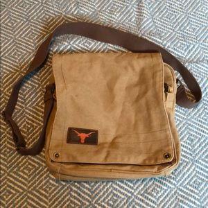 Vintage Longhorn Messenger Bag